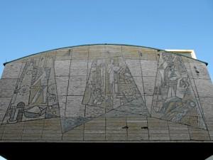 Mosaik an der Berufsschule I (Foto: Ralph Stenzel)