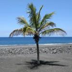 Blauer Himmel, schwarzer Strand: sowas gibt's nicht im Heimatland... (Foto: Ralph Stenzel)