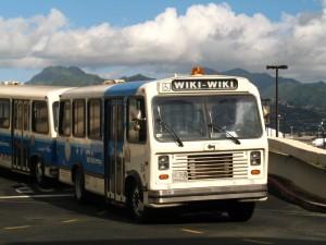 Der Wiki-Wiki-Bus am Flughafen Honululu (Foto: Andrew Laing)