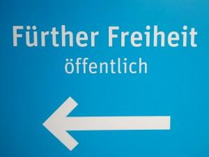 Parkhausschild »Fürther Freiheit« (Foto: Ralph Stenzel)