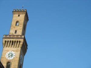 Der Turm des Fürther Rathauses (Foto: Ralph Stenzel)
