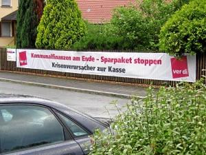 ver.di-Spruchband (Foto: Michael Müller)
