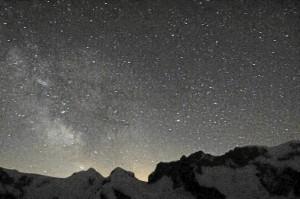 Nachthimmel beim Gornergrat/Schweiz (Foto: Werner Schmidt)