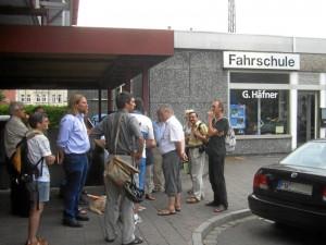 VCD-Arbeitstreffen mit Politikern am Hauptbahnhof (Foto: Lothar Berthold)