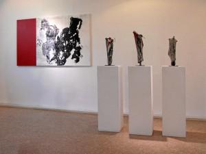 Arbeiten von Pia Morgenthum und Hanne-Lore Limbrunner (Foto: Ralph Stenzel)