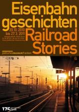 Ausstellungsplakat zu »Eisenbahngeschichten« (Grafik: Armin Stingl)