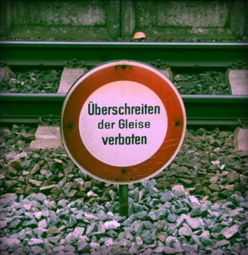 Verbotsschild (Foto: Andrea Himmelstoß)