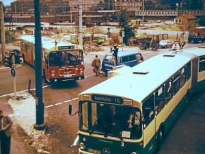 »Schienenersatzverkehr« für die Straba, 1981-1982 (Foto: Archiv Doc Bendit)