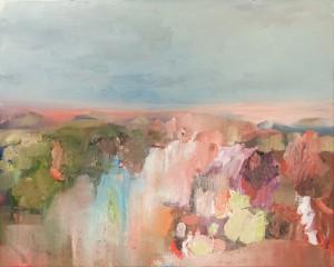 Szilard Huszank: Imaginäre Landschaft Nr. 20, Öl auf Leinwand, 40 x 50 cm, 2009 - 2010
