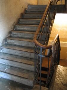 Treppenhaus nach Reinigung (Foto: Axel Voss)