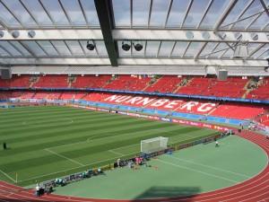 Das Stadion in Nürnberg - Schauplatz des 254. Frankenderbys (Foto: Andreas Rümler / »Färdder«)