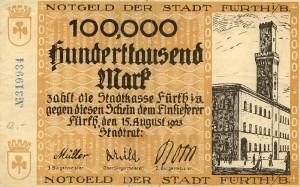 Aus schwerer Zeit: Fürther Notgeld von 1923