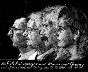 Johannes Grützke: Die Erlebnisgeiger und Klavier und Gesang