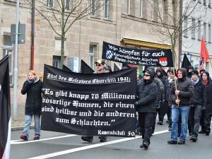 Nazidemo in Fürth (Foto: Timo Müller / a.i.d.a.)