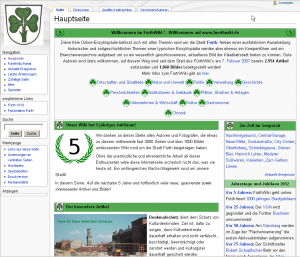 Startseite des FürthWiki