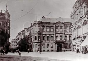 Das Wohn- und Geschäftshaus sowie das Fabrikgebäude Kohlenmarkt 3 und Hirschenstraße 2 in Fürth, die Zentrale von Seligman Bendit & Söhne (Foto: Archiv Margot Bendit)