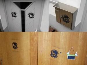 rechtsradikaler Farbanschlag auf die Wohnungen von Fürther Familien (Foto: privat)