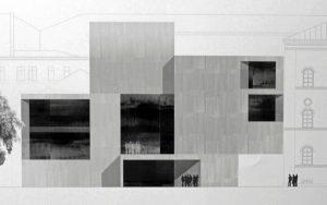 Der erstplatzierte Entwurf von Reinhard Bauer Architekt, München (Foto: Dr. Alexander Mayer)