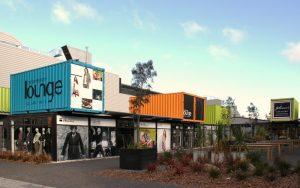 Container bildeten nach dem letzten Erdbeben das Geschäftszentrum von Christchurch, Neuseeland. Eine gewisse Ähnlichkeit mit dem Siegerentwurf ist zu erkennen. (Foto: Dr. Alexander Mayer)