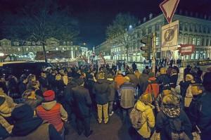 Kundgebung gegen Nazis am 19.12.13 in Fürth (Foto: Timo Müller)