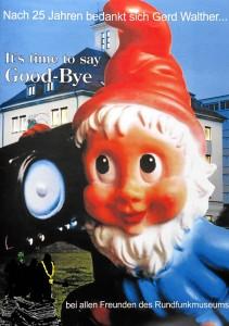 Rundfunkmuseum - Titelblatt der Abschiedsbroschüre von Gerd Walther