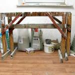 Werkstoffe in Egon Junges Atelier