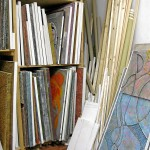 Bild- und Materiallager in Egon Junges Atelier