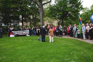 Die Kundgebung im Stadtpark (Foto: Timo Müller)