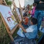 Kinder nahmen das Angebot zum Malen gerne an