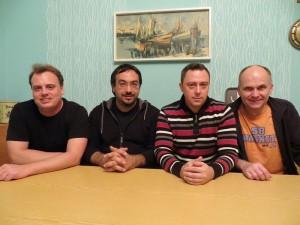 Der neu gewählte Vorstand des Trägervereins von FürthWiki, von links nach rechts: Mark Muzenhardt, Kamran Salimi, Günter Scheuerer und Ralph Stenzel (Foto: Felix Geismann)