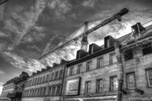 Einen gespentischen Anblick bieten die »entbeinten« (Landesamt für Denkmalpflege) Häuser der Rudolf-Breitscheid-Straße (Foto: Alexander Mayer)
