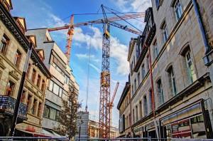 Viel Aufwand, wenig Sensibilität: Bauarbeiten in der Neuen Mitte (Foto: Alexander Mayer)