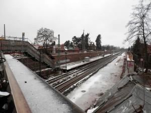 Haltepunkt Fürth-Unterfarrnbach im Januar 2015 (Foto: Alfred Schermann)