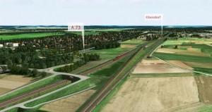 Überwerfung Eltersdorf (Planungsskizze: DB)