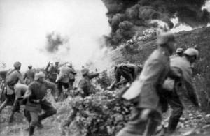 Deutscher Angriff auf französische Stellung (Foto: Hermann Rex)