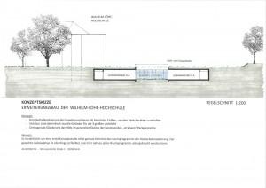 Konzeptskizze Erweiterungsbau WLH (Grafik: Christofer Hornstein)