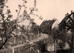 Wallensteinstraße von der Friedlandstraße aus im Frühjahr 1930 (Foto: Sammlung A. Mayer)