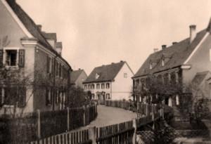 Wallensteinstraße im Jahr 1930 (Foto: Sammlung A. Mayer)