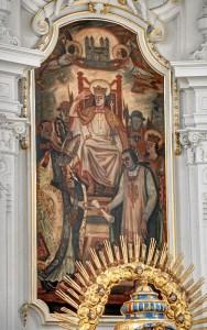 »Zum Entsetzen der gesamten Gemeinde«: Das Altarbild von 1925 (Foto: A. Mayer)