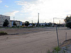 Vorgesehener Standort des geplanten Parkhauses in der Gebhardtstraße (Foto: Susanne Krebs)