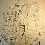 Lucie, Aiga, Lina (Zeichnung: Christoph Haupt)