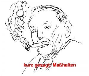 Ludwig Erhard - leicht umwölkt (Zeichnung: Alfred Schermann)