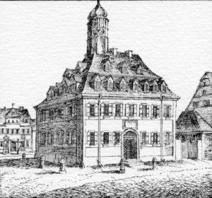 Die Armen- und Waisenschule (Steindruck von Christian Wilder und Philipp Herrlein, 1835)