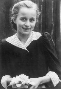 Ingrid Volkmann an ihrem Konfirmationstag im Jahre 1950 (Foto: Familienarchiv)