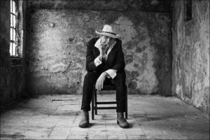 Erster Interviewter: Der Musiker Martti Trillitzsch (Foto: Robert Söllner)